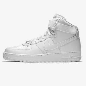 nike white air force 1 high sneakers Sz 5Y